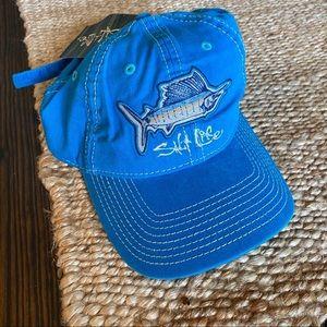 SALT LIFE teal Blue Adjustable hat NWT
